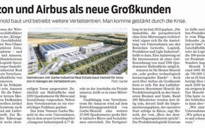 Amazon und Airbus als neue Großkunden